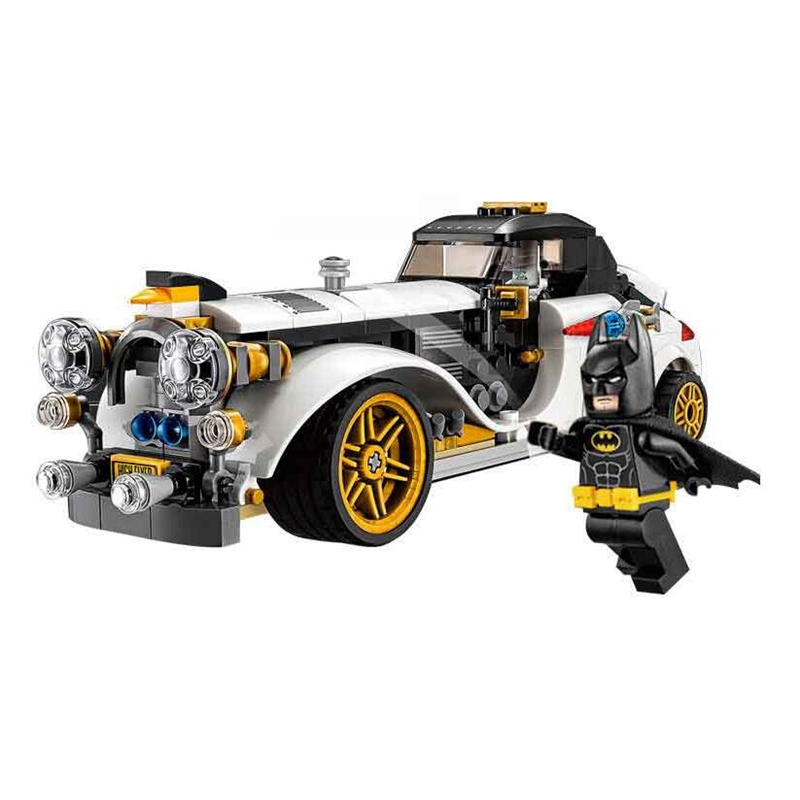 все цены на Mailackers 07047 Legoing batman 70911 The Penguin Arctic Roller 305Pcs DC Super Heroes Movie Building Blocks Toy For Children