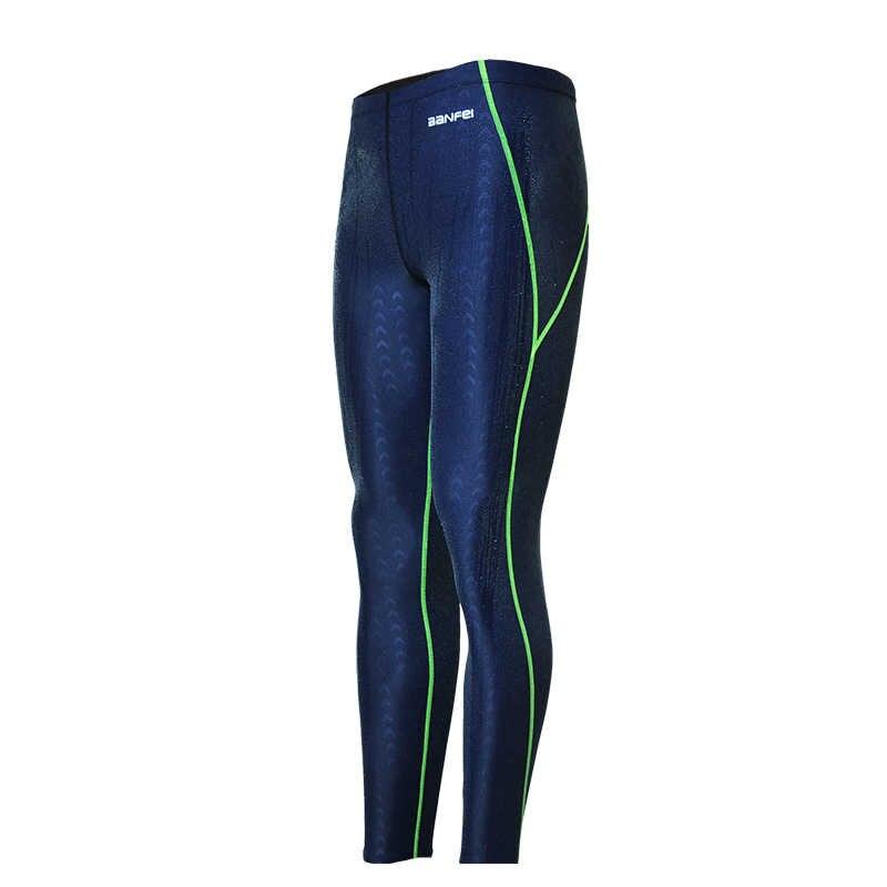 م إلى 4XL ملابس السباحة الرجال ملابس السباحة Sharkskin طارد المياه شورت سباحة رجالي الرياضة طويل الساق ملابس السباحة Sunga حجم كبير