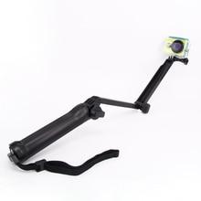 Gopro accessories 3-way grip arm tripod monopod 3way for gopro Hero 4 3 3+ xiaomi xiaoyi sports camera