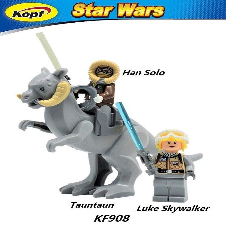 10Sets Tauntaun Han Solo Luke Skywalker Star Wars Super Heroes Building Blocks Bricks Action Toys for children Gift KF908