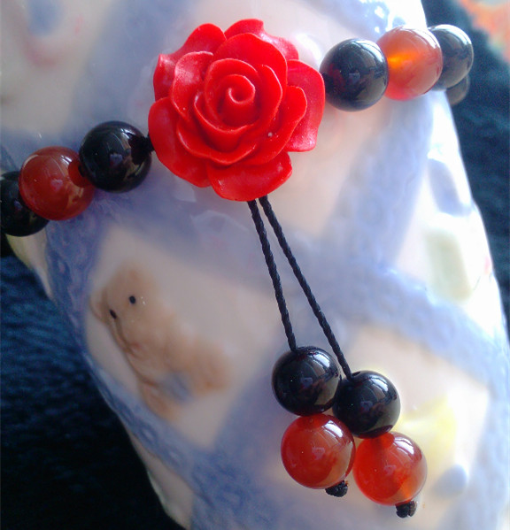charm accessory manual China style jewelry Anklets agate beads Anklets Anklet blossoming roses