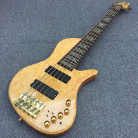 in stock,5 String bass Neck through body,Butterfly bass guitar,very nice wooden hat with Golden hardware,Real photo,free shippin