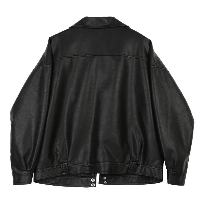 Nouveau Femmes Mode Moto En Court Mince Pu Faux Noir Leahter Casual Cuir Outwears Automne X44 Vestes Femme Manteau Printemps 2018 gtxq4wdg