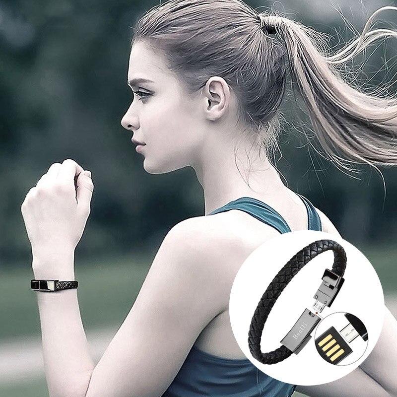 Hohe qualität armband usb kabel ladegerät daten schnelle lade android typ c micro für iphone se x huawei P20 adapter samsung S9