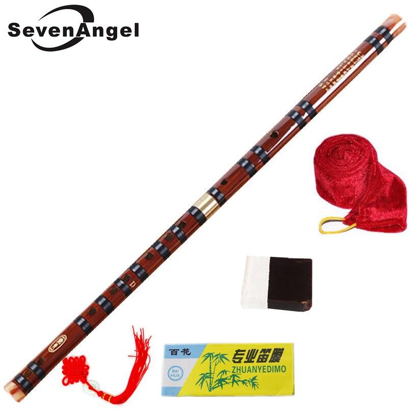 Alta calidad Flauta de bambú profesional de viento flautas instrumentos musicales C D E F G chino clave dizi Transversal Flauta