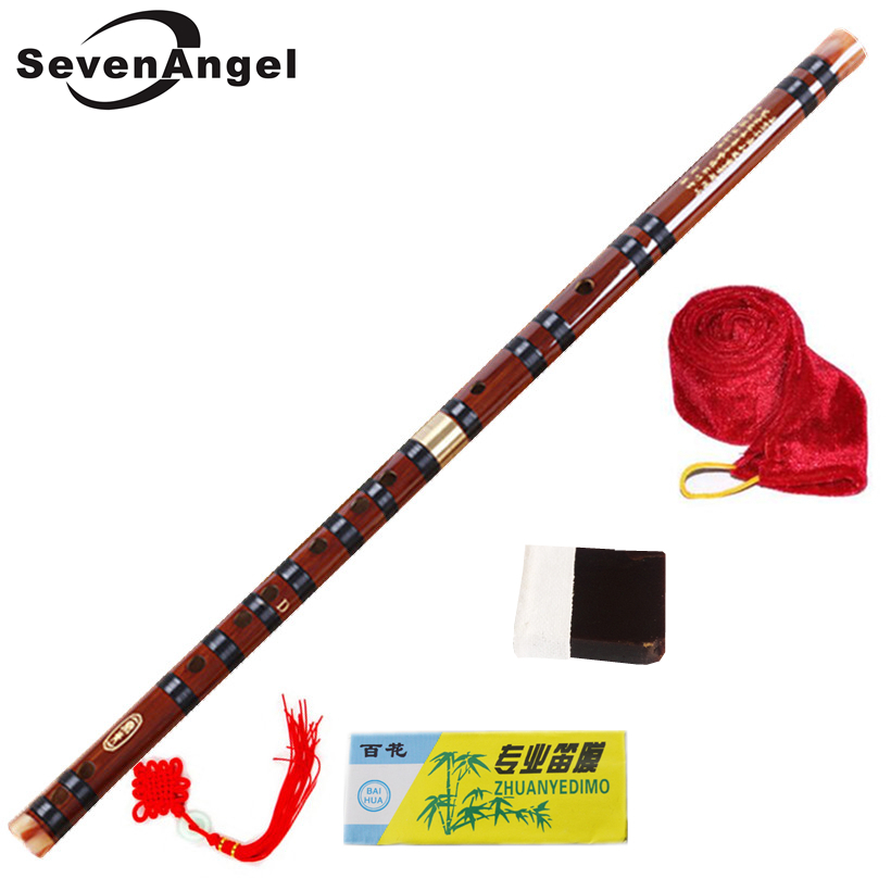Flauta de bambú de alta calidad Flutes profesionales de viento de madera instrumentos musicales C D E F G llave chino dizi Transversal Flauta