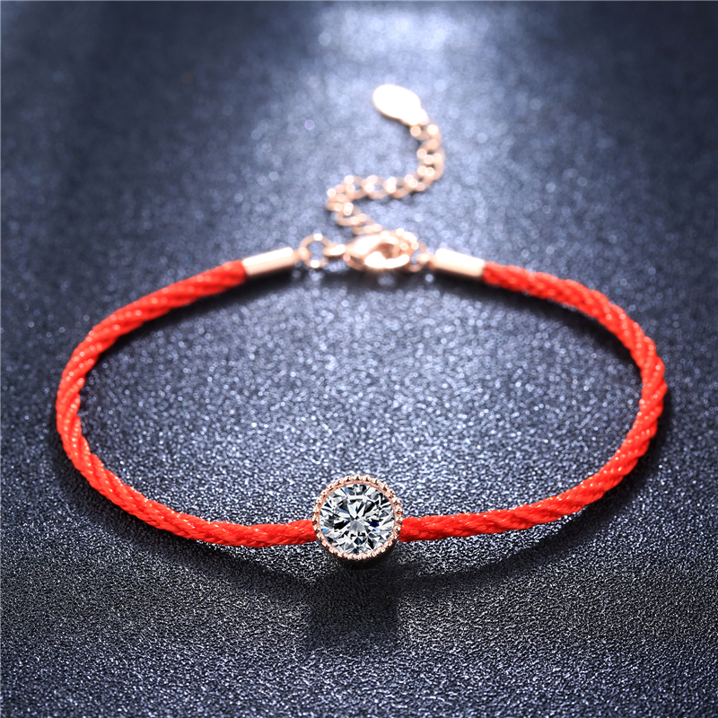 Competent Romad Austrian Crystals Charm Bracelets For Women Thin Red Thread String Rope Fashion Trendy Bracelets & Bangles Jewelry R4