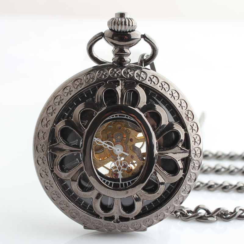 Men Pocket Watch Unisex Mechanical Hand-winding Watch Xmas Gift #10710