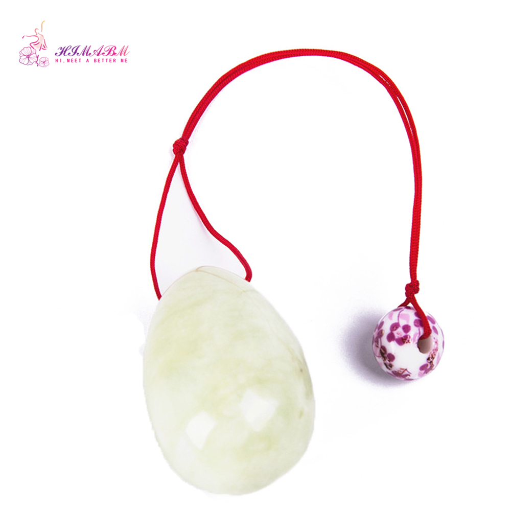 HIMABM 1 piece natural jade egg for Kegel Exercise pelvic floor muscles vaginal tightening exercise yoni egg ben wa ball