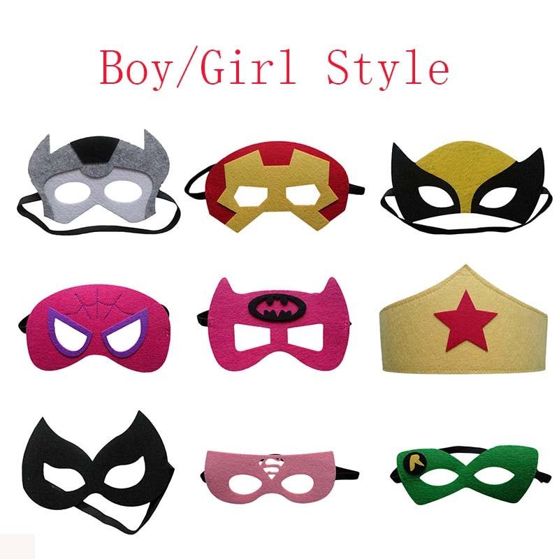 Cute Super Hero Glasses Mask Kids Baby Boy Girl Fancy Dress Costume Cool Decorate Hot Avengers Heros Masquerade Eye Mask