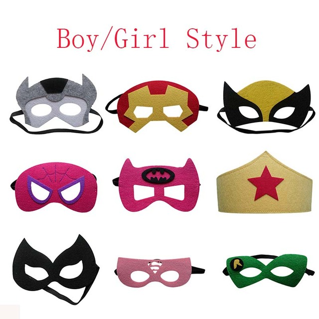 9ee71ff0c6bb1 Cute Super Hero Glasses Mask Kids Baby Boy Girl Fancy Dress Costume Cool  Decorate Hot Avengers Heros Masquerade Eye Mask
