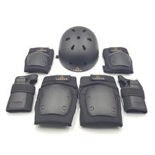 ФОТО Lanova Skateboard Bicycling Cycling Helmet Knee Elbow Pads Wristguard Care 7PCS / Sets Men And Women Unisex Protector Roller
