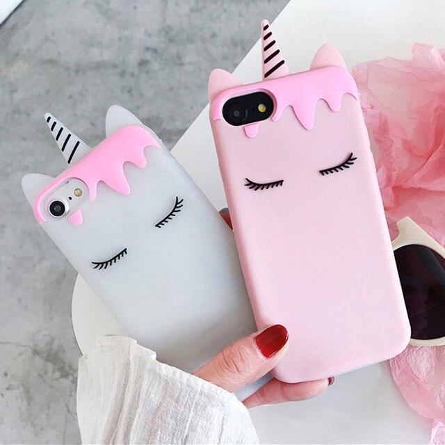 Luxury 3D Cartoon Candy Unicorn Phone Case for iPhone 5 5S 5SE 6 6S ... 48cf5e803eb6