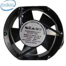 FP-108 EX-S1-B Óleo Manga Axial Ventilador De Refrigeração AC 380 V 0.22A 38 W 3100 RPM 17250 17 cm 172*150*50mm 2 Fios 50/60 HZ
