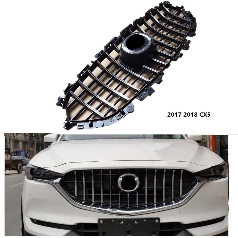 Высокое качество Передняя гонки решетка сетки подножку Маска Крышка грили, пригодный для MAZDA CX 5 CX5 2017 18 внешние аксессуары гриль