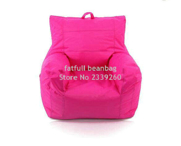 COVER ONLY , No Filler   With Side Pocket And Handle Design Big Joe Pink  Fashion Fabric Armchair Furniture, Relax Bean Armchair