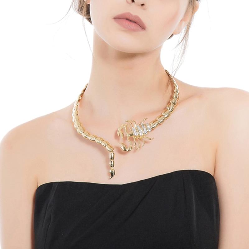 Ευρώπης και των Ηνωμένων Πολιτειών κοσμήματα μόδας κοσμήματα κράμα χρυσού κρεμαστό κόσμημα κολιέ σκορπιού σκορπιός κολιέ για γυναίκες