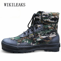 Desert Boots Men Camouflage and Black Tactical Combat Boots Askeri Bot Men Outdoor Boots Army Shoes Men Climbing Shoes Tenis