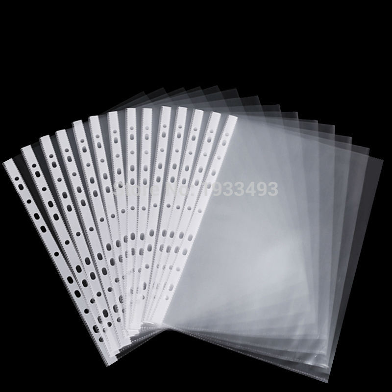 50 Sheets 8 5x11 A4 Strong Transparent Poly Punched