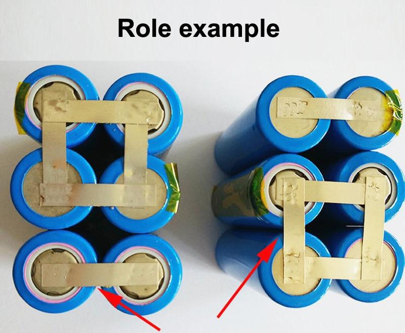 Купить с кэшбэком 1kg Lithium Battery Pack Spot-welded Nickel Plates Electric Welding Conductive Nickel Band 0.2MM Thick *8MM Wide