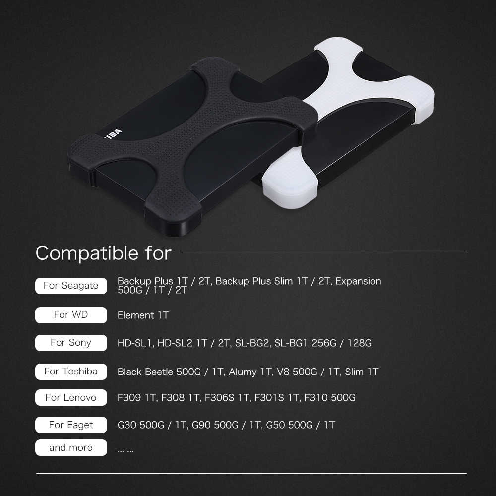 """2.5 """"HDD Silicone Case Hard Drive Disk Cover Protector Skin Ultra Zachte 2.5 inch HDD Case voor Sony seagate Voor Toshiba voor WD"""