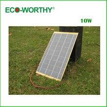10 w panel solar de epoxy 12 v cargador de batería para autocaravana RV barco del coche del envío libre