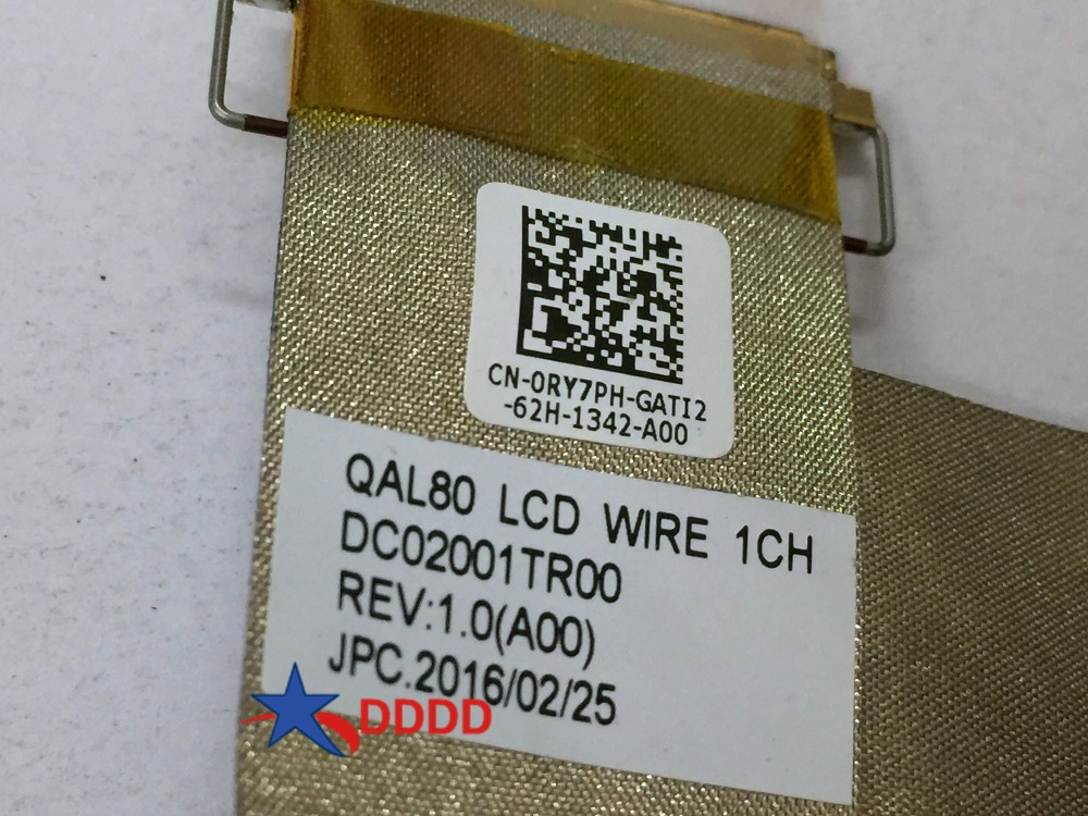 US $8 99 |Original FOR Dell Latitude E6430 DC02001TR00 QAL80 LCD WIRE  0RY7PH LED LCD LVDS Cable cn 0ry7ph RY7PH fully tested-in Computer Cables &