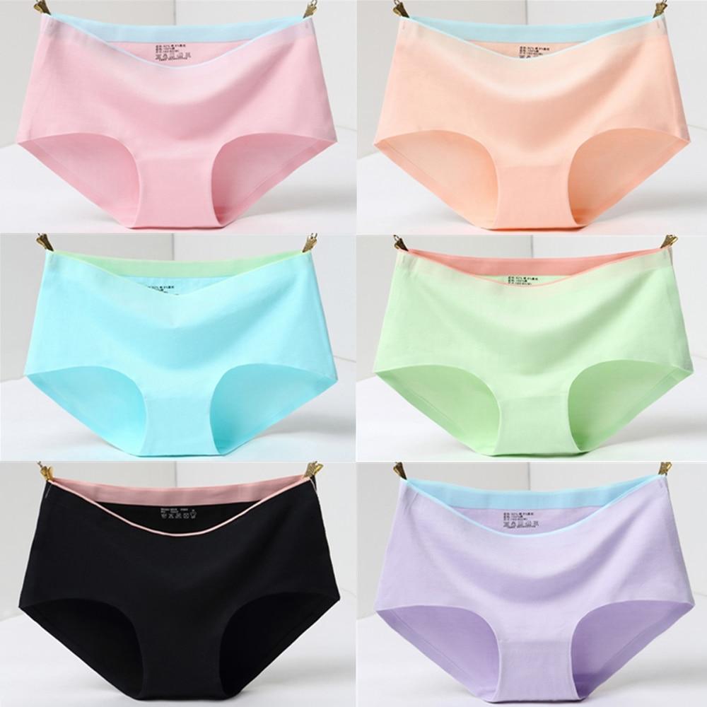 1/2Pcs briefs panties for women cotton seamless panties woman Mid-Rise Sexy lingerie women seamless panties Girl shorts culotte