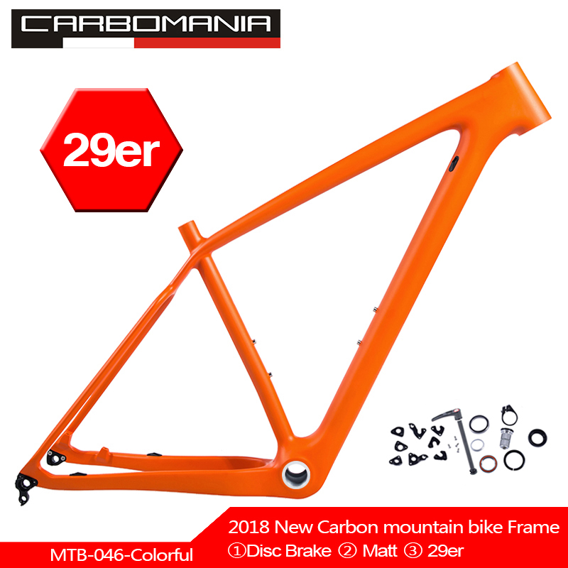 29inch MTB bike carbon frame disc brake 29er bicycle frameset BSA colorful frame 135mm 9 and