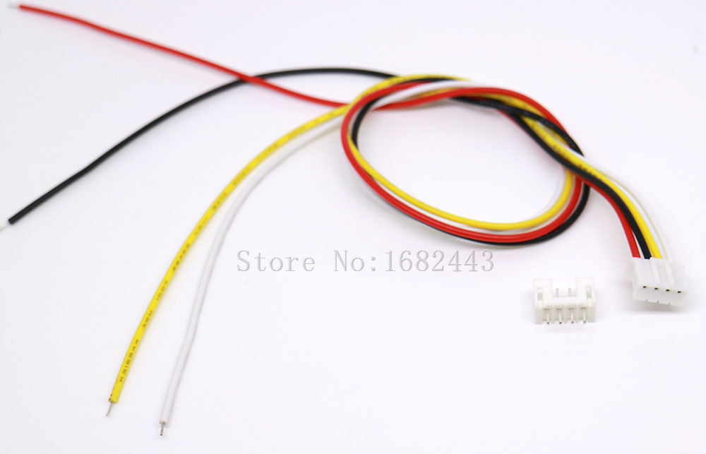 100 SETS Micro JST 2.0 PH 4-Pin Male&Female Connector Plugs 300mm Wires Cables