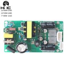 HIFI TPA3116 2,0 Canal Digital placa amplificadora de potencia Switc fuente de alimentación tablero amplificador 2*60W AC 100 240V