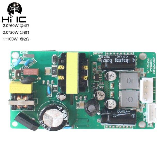 HIFI TPA3116 2.0 채널 디지털 전력 증폭기 보드 Switc 전원 공급 장치 증폭기 보드 2*60W AC 100 240V