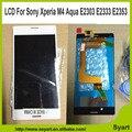 Высокое качество ЖК-скрин Дисплей + Сенсорный Дигитайзер Для Sony Xperia M4 Aqua жк ассамблея белый + подарок 3 М клей + открытие инструмент