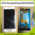 High quality LCD sreen Display+Touch Digitizer For Sony Xperia M4 Aqua lcd assembly white +Free gift 3M adhesive + opening tool