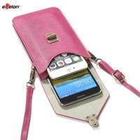 BrankBass PU Leather Phone Bag Shoulder Pocket Wallet Pouch Case Neck Strap For Samsung S4 S5