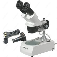 Buy online Student School-AmScope Supplies 10X-20X-30X-60X Forward Stereo Microscope with Digital Camera