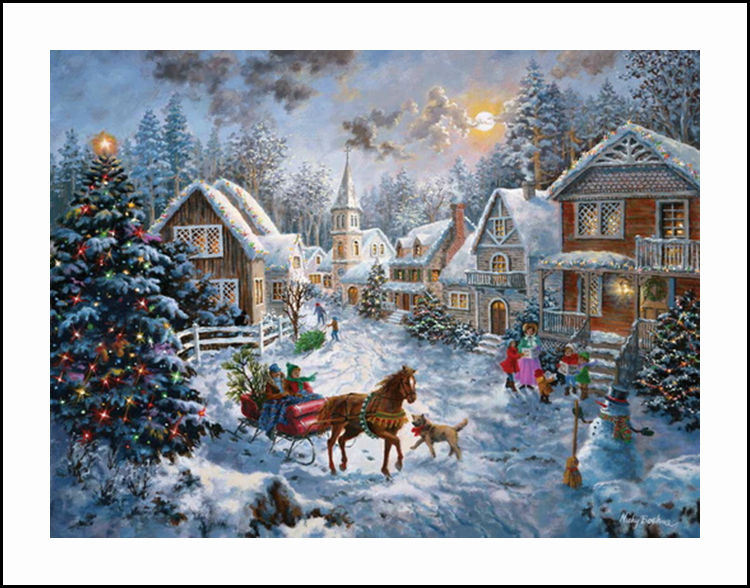 Village christmas diamond embroidery 5d painting cross stitch mosaic attention our diamond painting is without frame and it is not a finished painting you need to finish it yourself solutioingenieria Gallery
