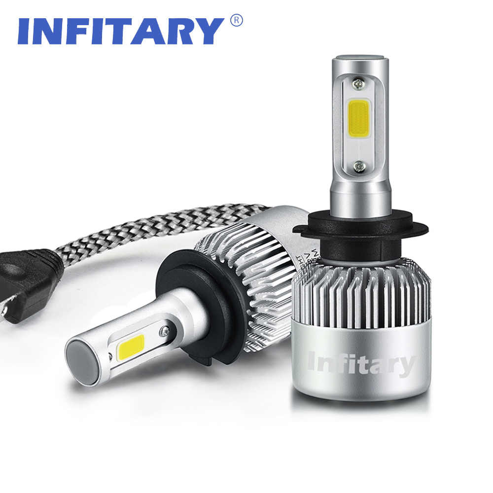 Car Headlight H4 LED H7 H11 H1 H13 H3 880 9004 9005 9006 9007 COB Bulb Hi-Lo Beam 72W 8000LM 6500K Auto Headlamp 12V fog light
