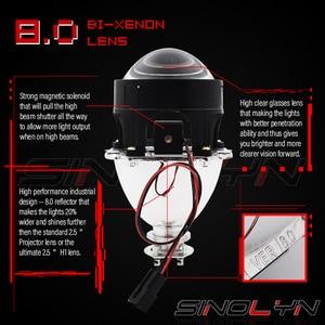 Image 2 - Sinolyn Headlight Lenses LED Angel Eyes Bi xenon Lens 2.5 Devil Eyes Headlamp Projector H4 H7 H1 Car Lights Accessories Tuning