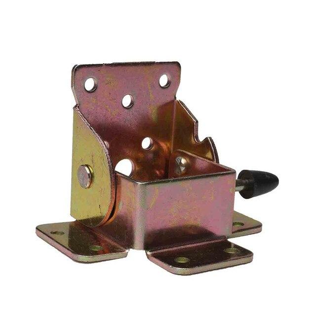 MTGATHER 4 unids Hierro Soportes Plegables Para Mesa Plegable Plegable Pata De La Mesa/Silla Plegable Mesas de Extensión Auto Bloqueo Doble pies
