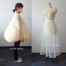 DLOVE BRIDAL Petticoat Buddy Wedding Dress Soft Tulle Gather Skirt Underskirt Save You From Toilet Water Drop Shipping