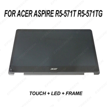 New for Acer Aspire R5-571T R5-571TG Lcd Touch Screen Digitizer PANEL & Bezel FHD 6M.GCCN5.001 ASSEMBLY DISPLAY + FRAME