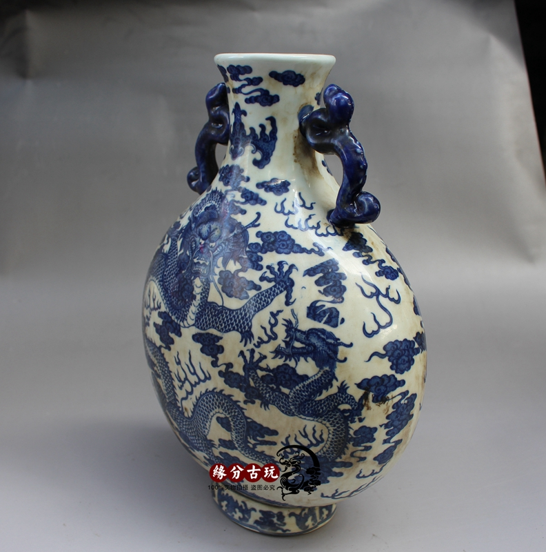 Jingdezhen Porcelain Antique Blue And White Porcelain Vases Large