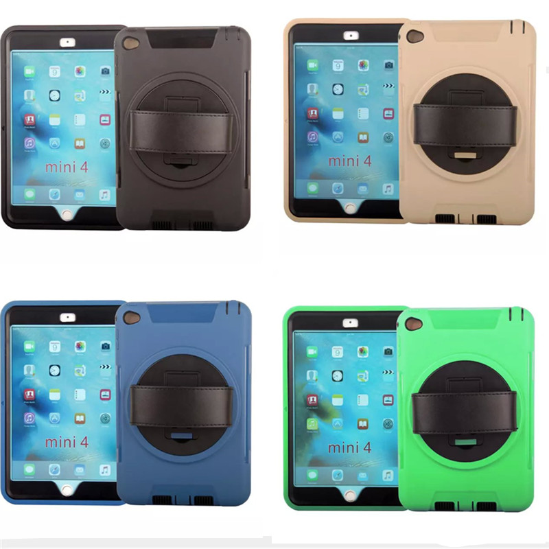 все цены на WES-FTL For Apple ipad mini 4 case Full protective cover plastic TPU Hybrid  funda capa Handheld Cases For IPad mini4 Tablet онлайн