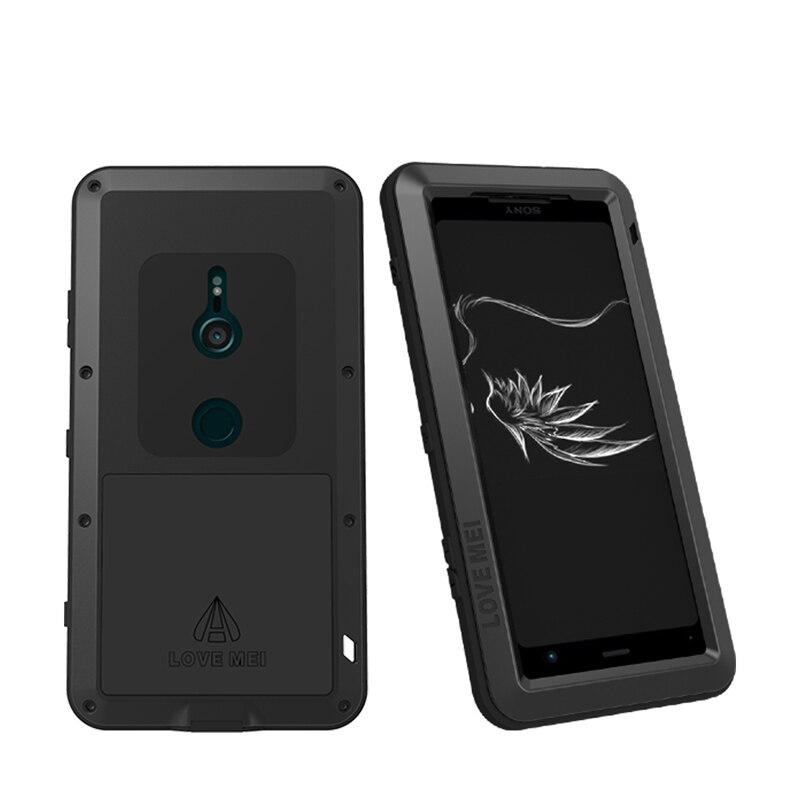 Pour Sony Xperia XZ3 étui étanche housse pour Sony Xperia XZ3 aluminium métal antichoc étui pour Sony XZ3 housse de Protection
