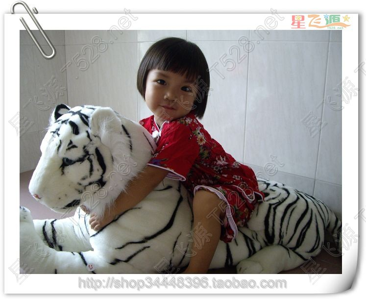 stuffed animal 115cm lying white tiger plush toy doll gift k0605 stuffed animal 110cm plush tiger toy about 43 inch simulation tiger doll great gift free shipping w018