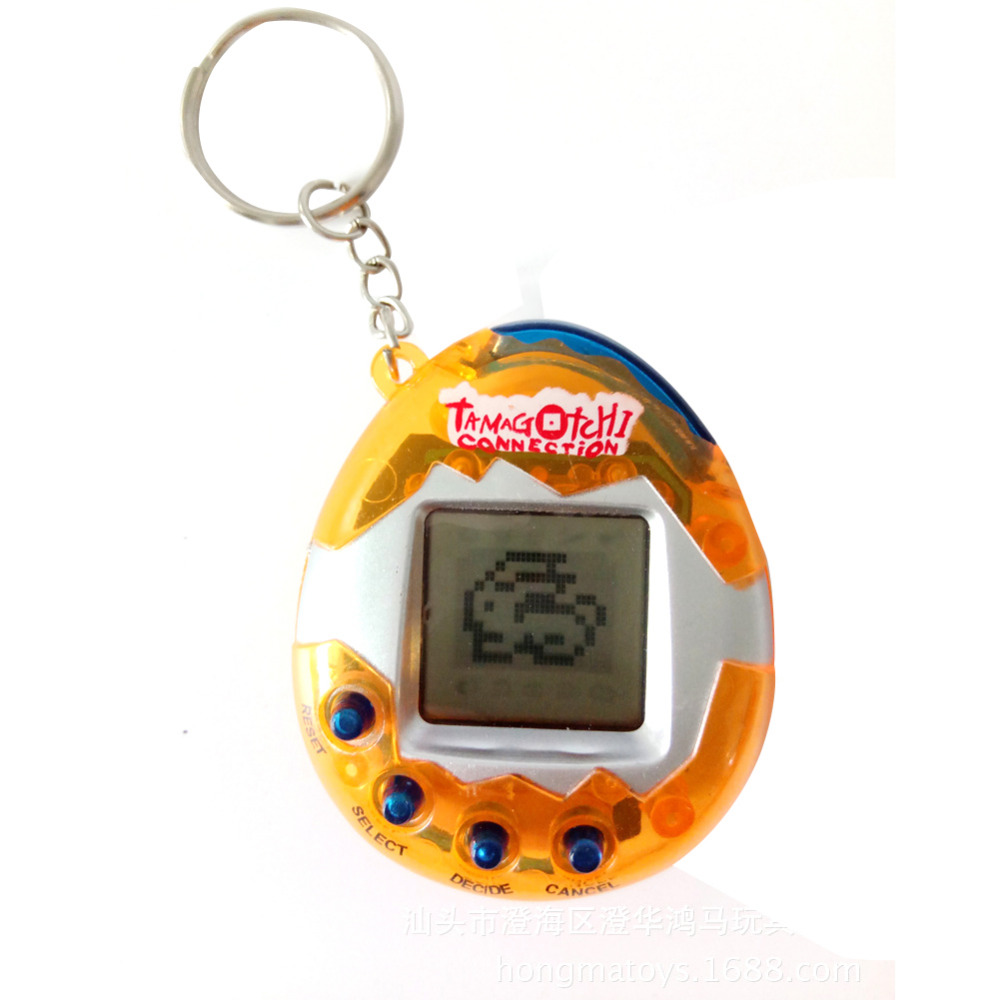 Puzzle Solid Color Tamagochi Pet Virtual Digital Game Machine Nostalgic Cyber Electronic E-pet Handheld Toy Gift For Children Factory Direct Selling Price