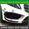 Карбоновый задний бампер Canards ABS передний бампер Canards 6 шт./компл. LCI A45 AMG стиль для Mercedes A Class W176 LCI