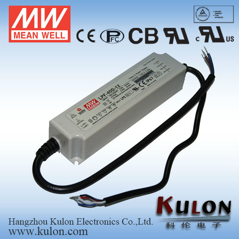 Meanwell LPF-40D-54 Power Supply Dimmable 40W 0.76A