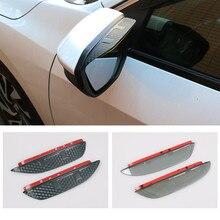 цена на Car Styling rearview mirror rain eyebrow Visor  Rainproof Protector decoration For Honda Civic 2016 2017 2018 Car accessories